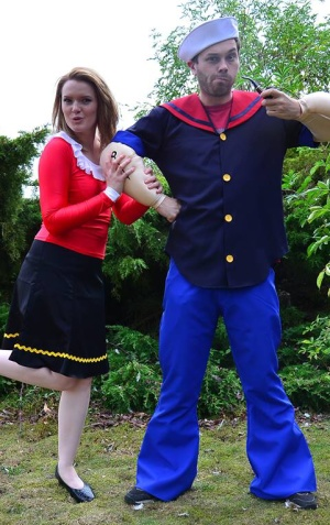 Popeye and Olive Oyl  sc 1 st  Masquerade shop Suffolk fancy dress costume hire & Olive Oyl fancy dress hire Popeye costume - Masquerade shop ...