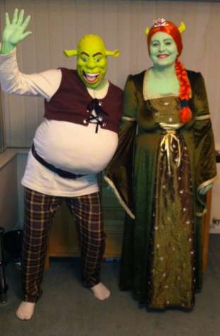 Shrek u0026 Fiona  sc 1 st  Masquerade shop Suffolk fancy dress costume hire & Fiona and Shrek costume hire film fancy dress - Masquerade shop ...