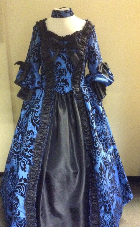 Royal Blue Georgian. Stunning Georgian style costume ... & Masquerade ball gown hire Georgian fancy dress - Masquerade shop ...