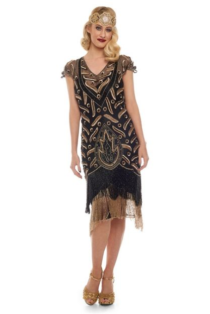 1920s Great Gatsby Flapper Twenties Dress For Hire Downton